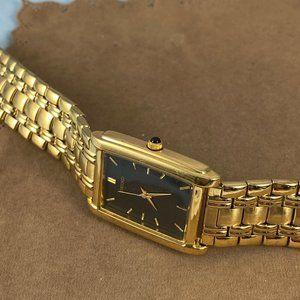 Seiko Accessories - Vintage Seiko Tank Gold Watch With Black Dial